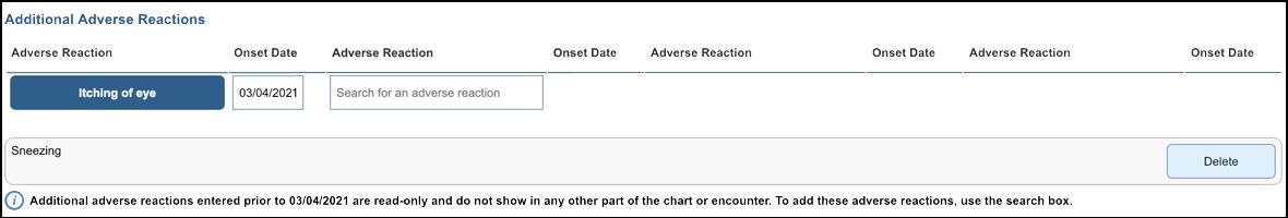 NextGen Office Adverse Reactions