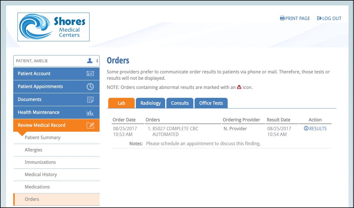 NextGen Office Medical Record