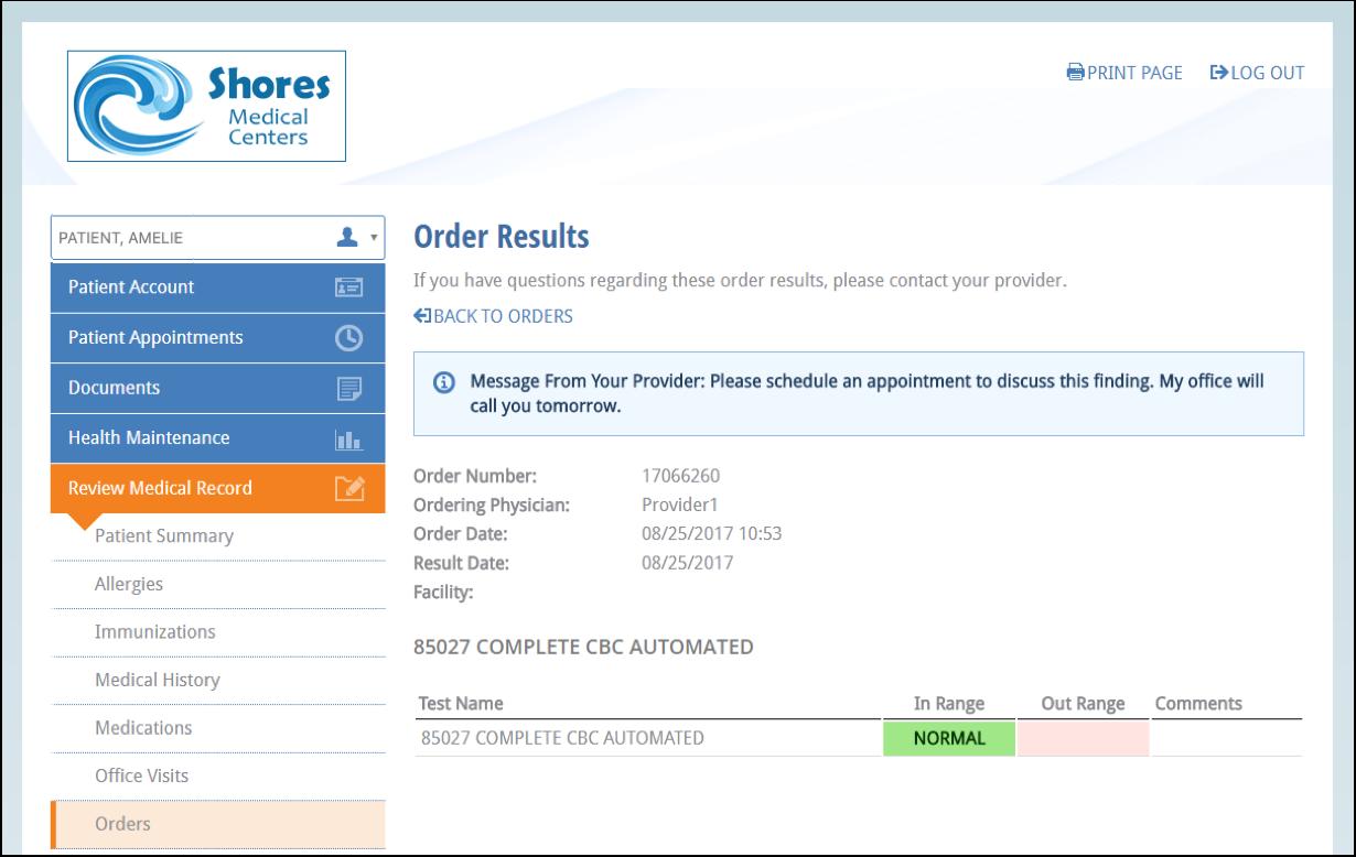 NextGen Office Orders Results